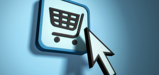 Mouse pointer hitting shopping cart icon